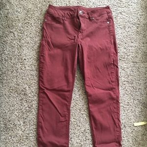 Maurices red jeggings
